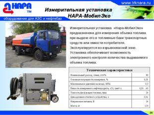 24 Измерительная установка НАРА-МобилЭко Измерительная установка «Нара-МобилЭ