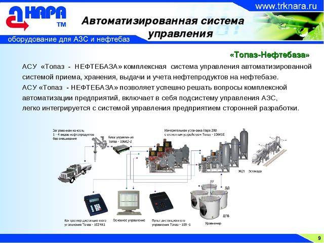 9 Автоматизированная система управления АСУ «Топаз - НЕФТЕБАЗА» комплексная с...