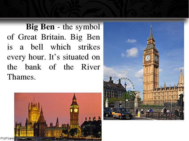 Big Ben - the symbol of Great Britain. Big Ben is a bell which strikes ever...
