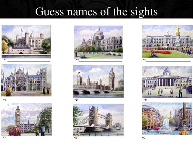 Guess names of the sights ProPowerPoint.Ru