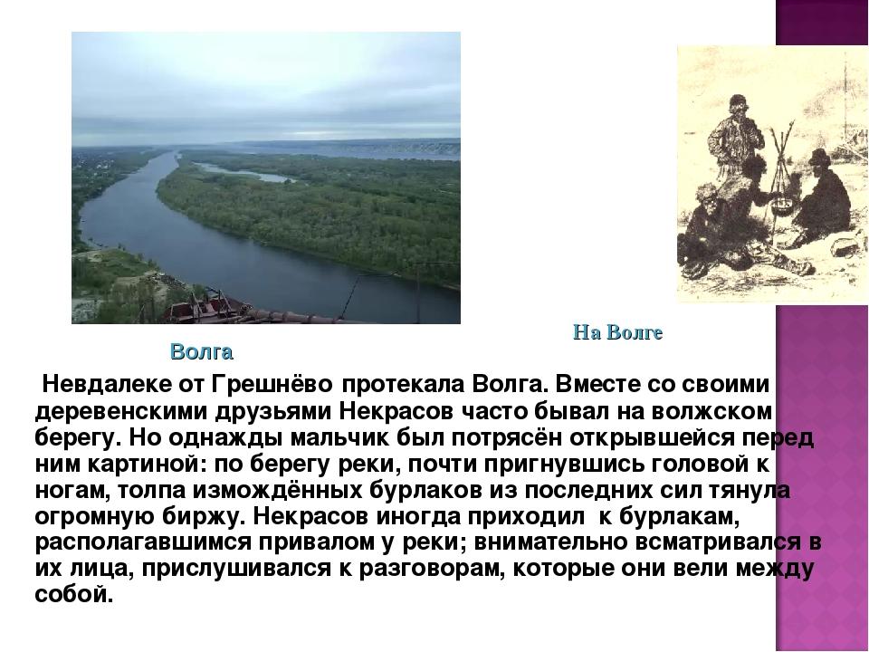 Невдалеке от Грешнёво протекала Волга. Вместе со своими деревенскими друзьям...