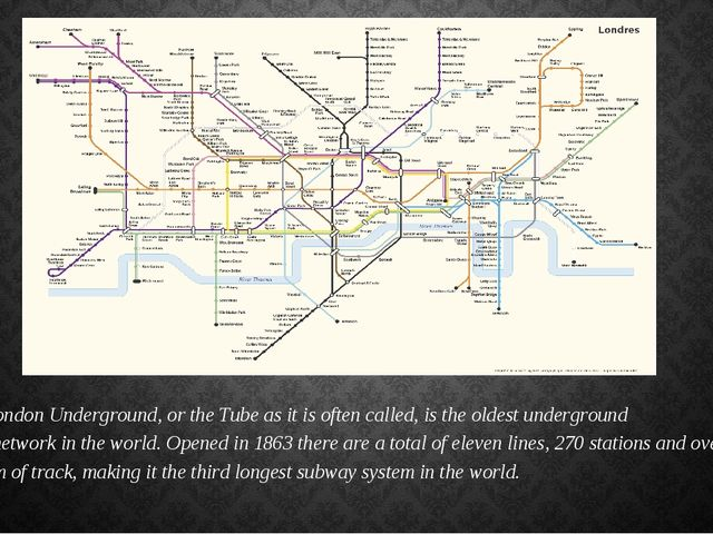 The London Underground, or theTubeas it is often called, is the oldest unde...