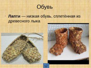 Обувь Валенки— тёплые войлочные сапоги из свалянной овечьей шерсти