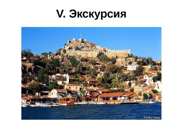 V. Экскурсия