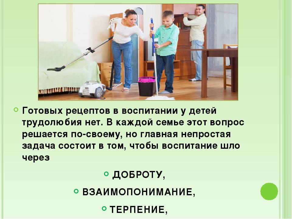 Готовых рецептов в воспитании у детей трудолюбия нет. В каждой семье этот во...