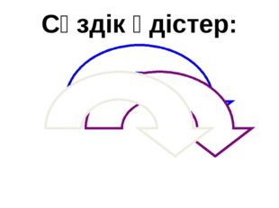 Сөздік әдістер: