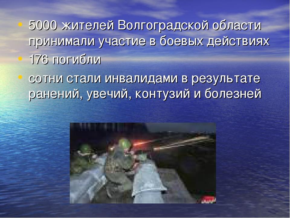 5000 жителей Волгоградской области принимали участие в боевых действиях 176 п...