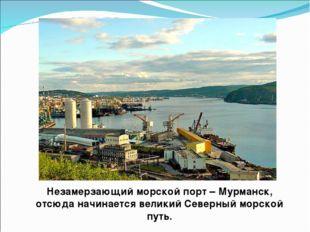 Незамерзающий морской порт – Мурманск, отсюда начинается великий Северный мор