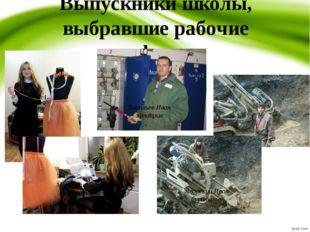 Выпускники школы, выбравшие рабочие профессии Васильев Иван электрик Мирошник