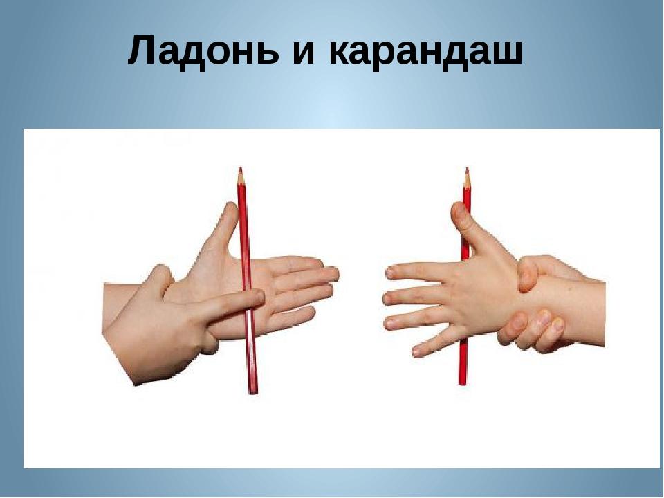Ладонь и карандаш