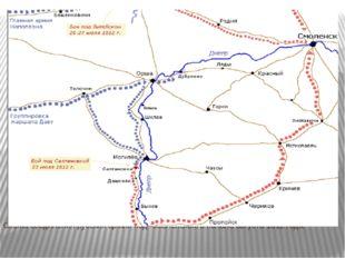 Схема соединения русских армий под смоленском в начале августа1812 года.