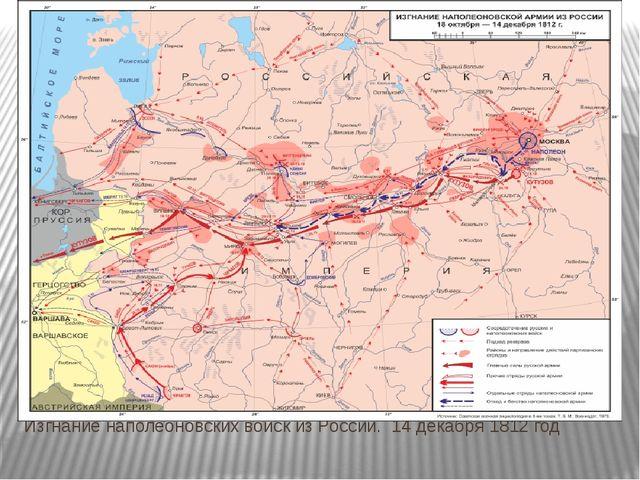 Изгнание наполеоновских войск из России. 14 декабря 1812 год