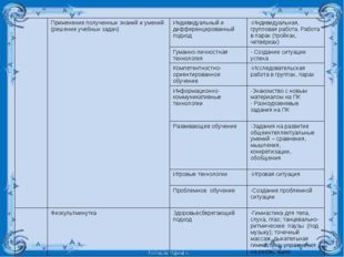 Применениеполученных знаний и умений (решение учебных задач) Индивидуальный