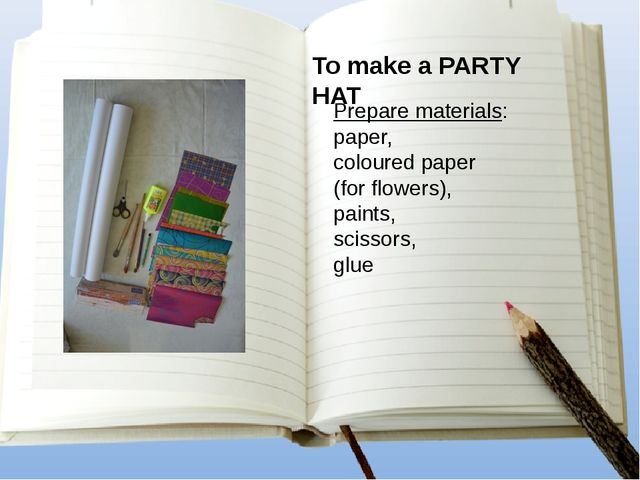 Prepare materials: paper, coloured paper (for flowers), paints, scissors, glu...