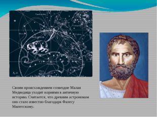 Своим происхождением созвездие Малая Медведицауходит корнями в античную исто