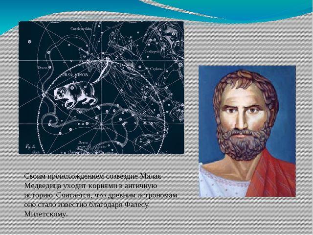 Своим происхождением созвездие Малая Медведицауходит корнями в античную исто...