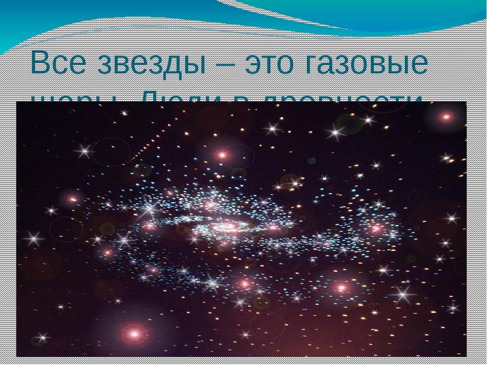 Все звезды – это газовые шары. Люди в древности объединили их в созвездия.
