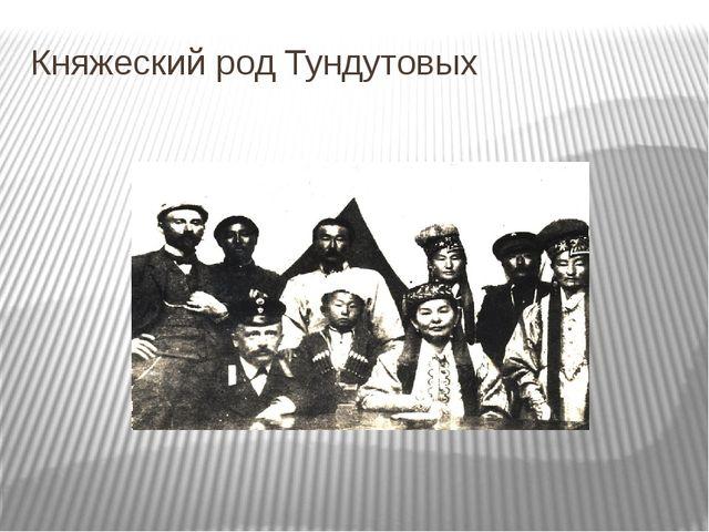 Княжеский род Тундутовых