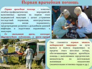 Первая врачебная помощь - комплекс лечебно-профилактических мероприятий, выпо