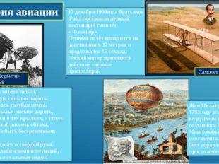 Планер «Дервитц» -1898 История авиации Издавна люди хотели летать, В неба глу