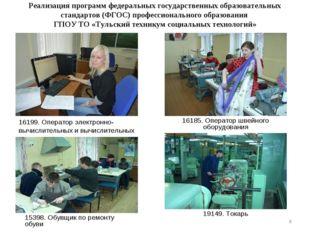 Реализация программ федеральных государственных образовательных стандартов (Ф