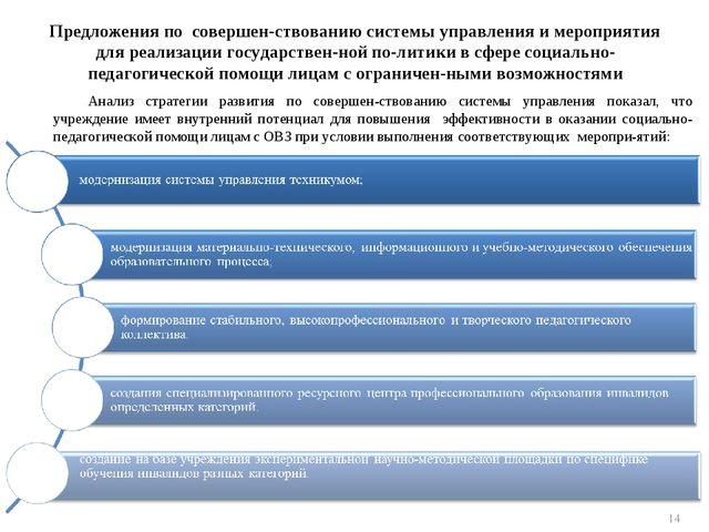 Предложения по совершенствованию системы управления и мероприятия для реализ...