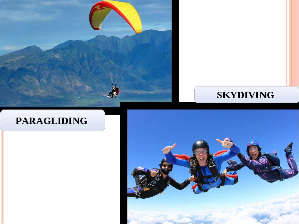 PARAGLIDING SKYDIVING