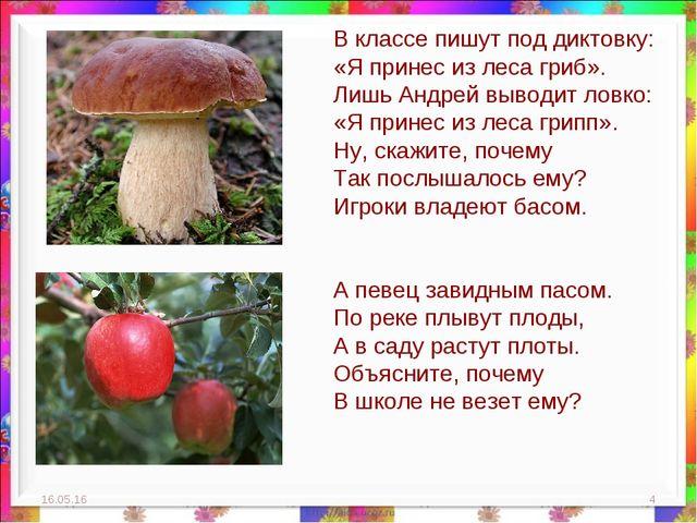 * * В классе пишут под диктовку: «Я принес из леса гриб». Лишь Андрей выводит...