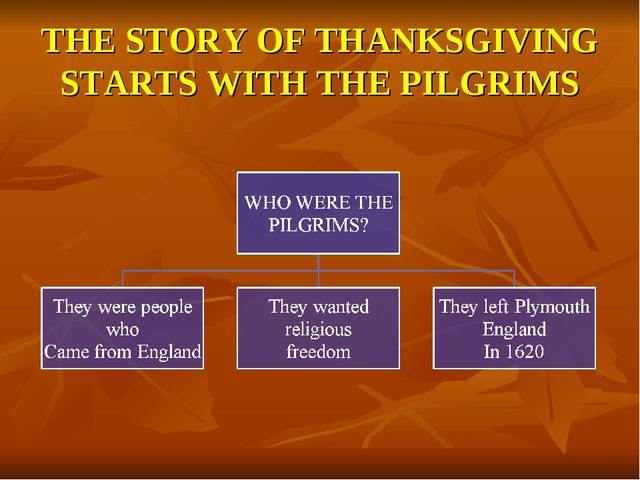 THE STORY OF THANKSGIVING STARTS WITH THE PILGRIMS