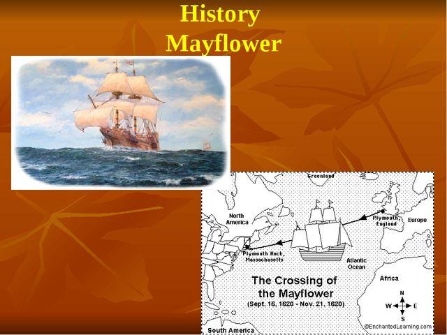 History Mayflower