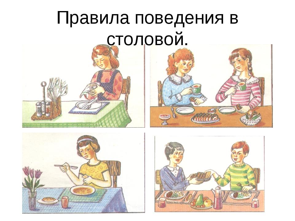 Правила поведения в столовой.
