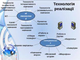 Інноваційні технології навчання ІКТ Технологія особистісно орієнтованого навч