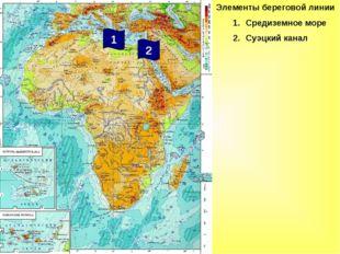 Элементы береговой линии Средиземное море Суэцкий канал 2 1
