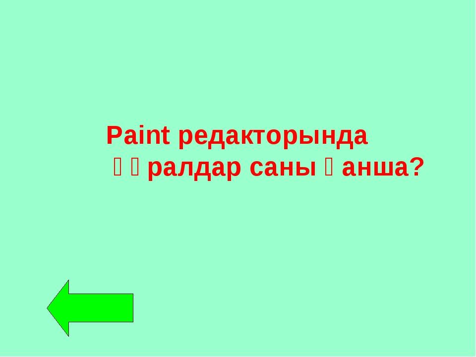 Paint редакторында құралдар саны қанша?
