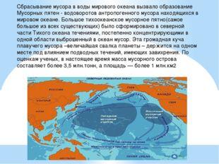 Сбрасывание мусора в воды мирового океана вызвало образование Мусорных пятен