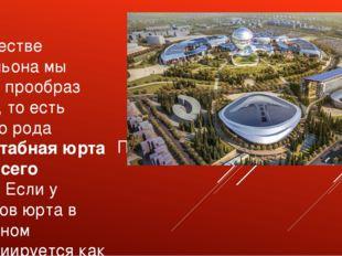 Павильон Астана экспо-2017 В качестве павильона мы взяли прообраз юрты, то ес