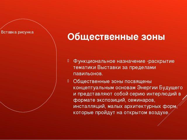 Общественные зоны Функциональное назначение -раскрытие тематики Выставки за п...