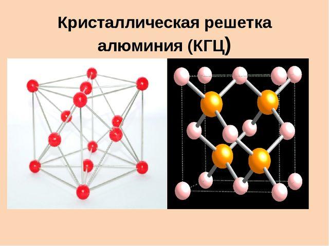 Кристаллическая решетка алюминия (КГЦ)