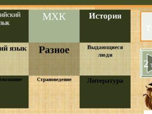 Русский язык – 2 – «Кот за углом» – 10 баллов Тур 1 В одном детективе герой г