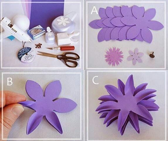 Поделки цветы из бумаги легкие