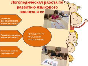 Логопедическая работа по развитию языкового анализа и синтеза Развитие фонема