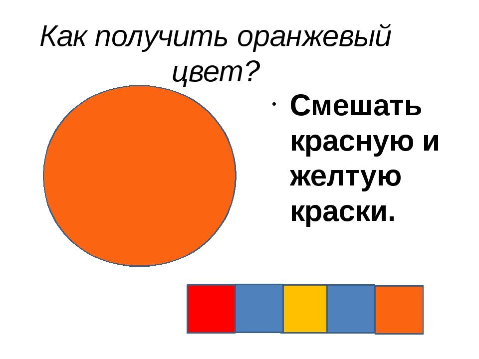 Как получить оранжевый цвет? Смешать красную и желтую краски.