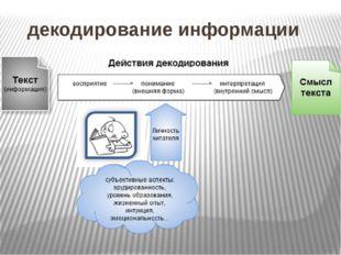 декодирование информации