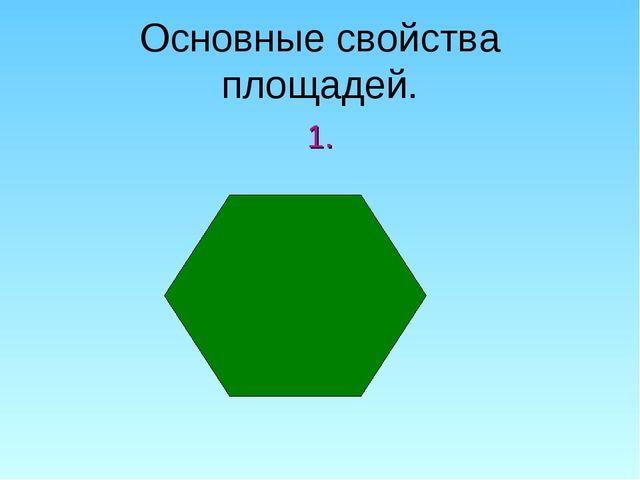 Основные свойства площадей. 1.