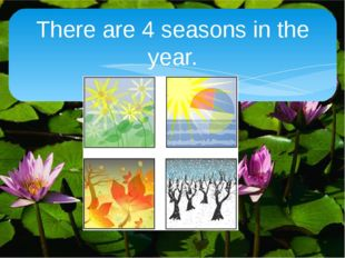 There are 4 seasons in the year.