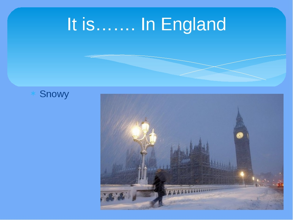 Snowy It is……. In England