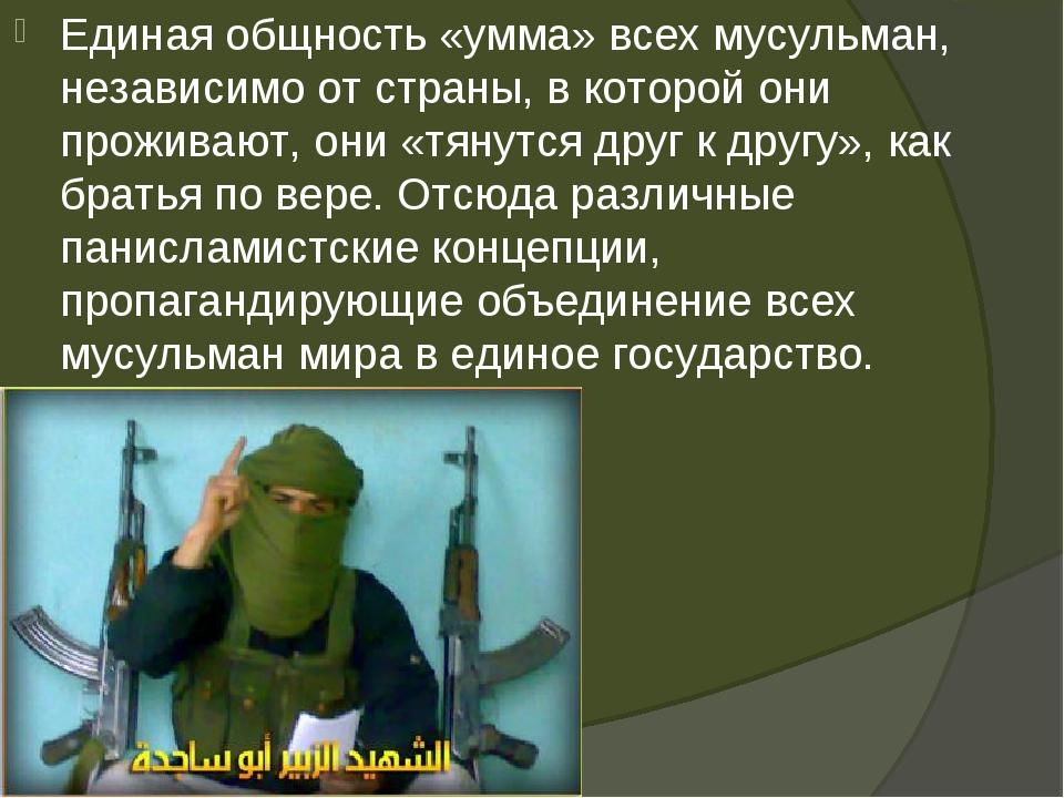 Единая общность «умма» всех мусульман, независимо от страны, в которой они пр...