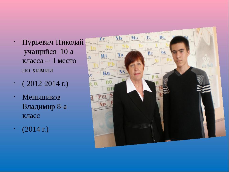 Плохушко Полина учащаяся 9-а класса – II место по химии ( 2013 г.) Призёры п...