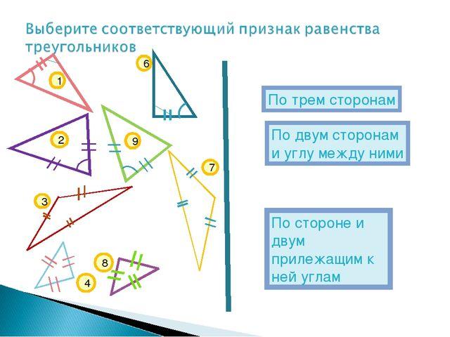 По стороне и двум прилежащим к ней углам По двум сторонам и углу между ними П...
