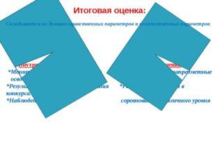 Итоговая оценка: Внутренняя оценка Внешняя оценка *Мониторинг оценки результа